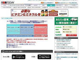 speed.rbbtoday.comのホームページ